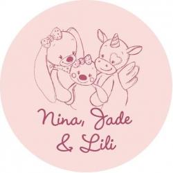 Конверт Nattou (Наттоу) Nina, Jade & Lili Кролик, Единорог, Черепашка 987554