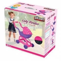 Коляска для кукол Pilsan Candy в коробке цвет розово-сиреневый