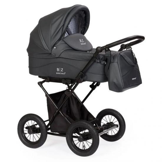 Детская коляска-люлька BEBIZARO CLASSIC GRAPHITE