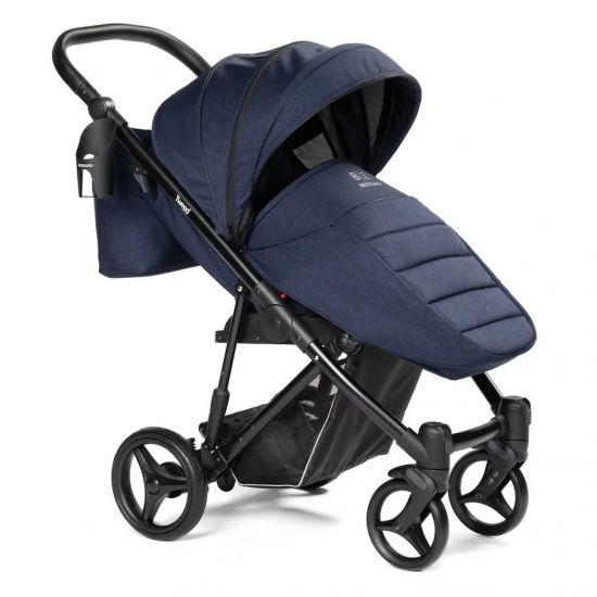 Детская коляска прогулочная BEBIZARO TWEED BLUE
