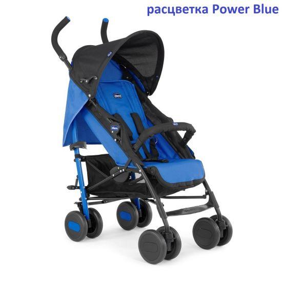 Коляска-трость Chicco Echo stroller с бампером {Power Blue}